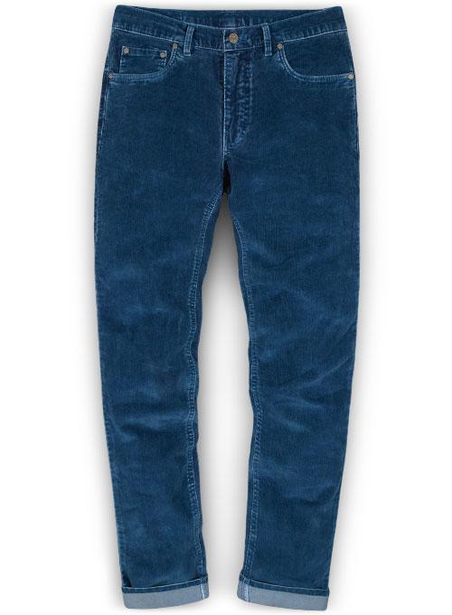 Indigo Corduroy Denim X Stretch Jeans Look 428