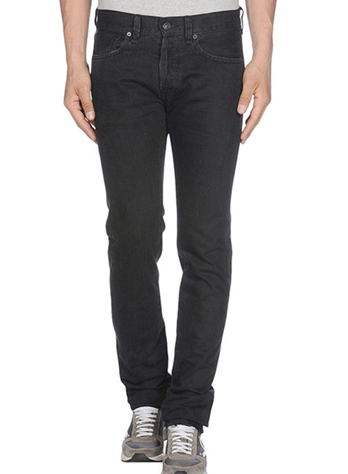 Jet Black Overdyed Jeans - 12oz Ring Denim