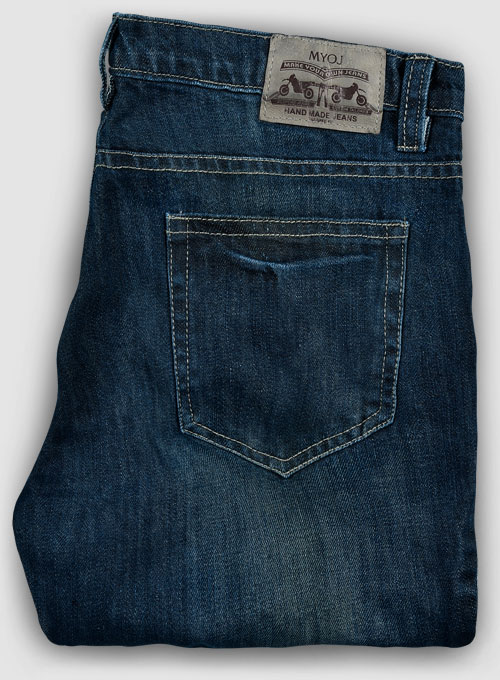 Jones Blue Indigo Wash Whisker Jeans - Click Image to Close