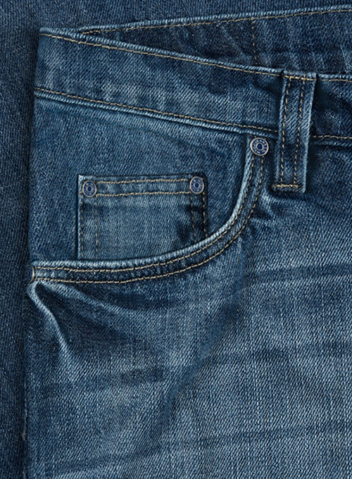 Jones Blue Stone Wash Whisker Jeans