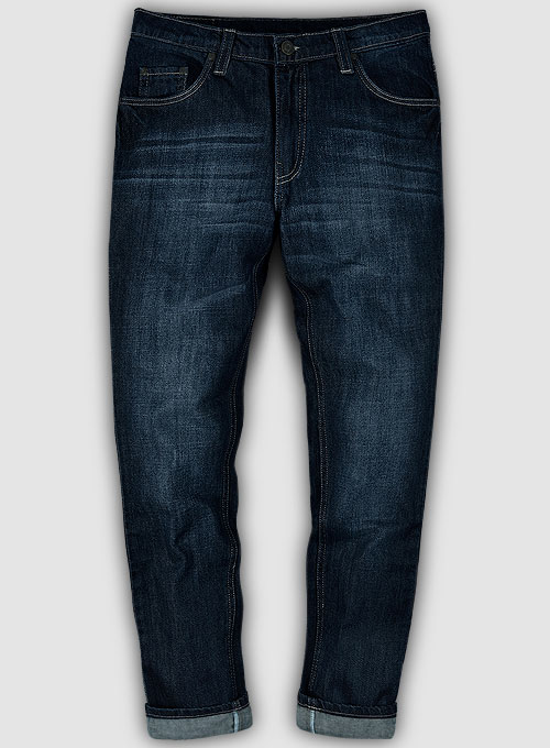 Jones Blue Hard Wash Whisker Jeans