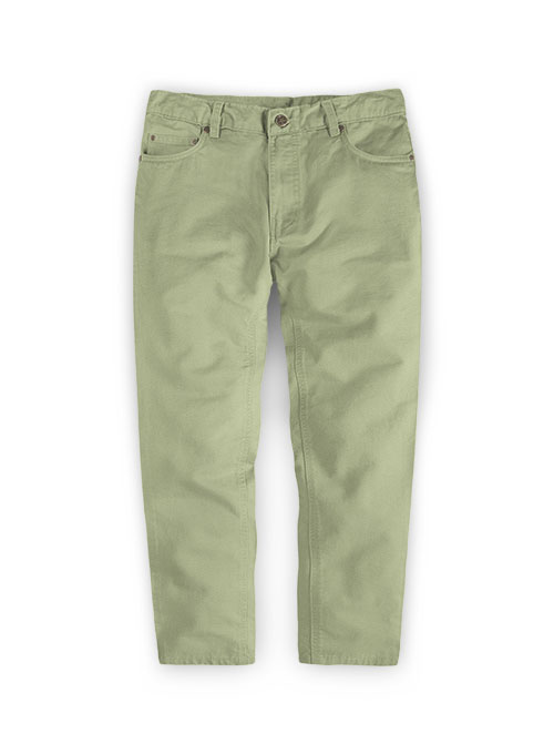 Kids Stretch Summer Weight River Green Chino Jeans