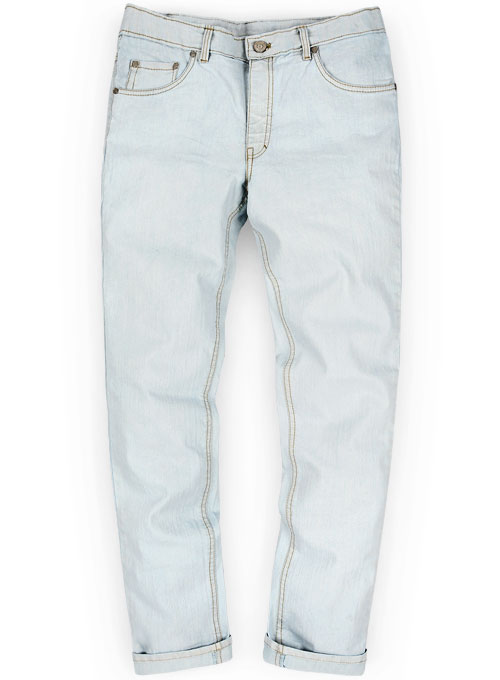 Light Sky Blue Stretch Denim Jeans