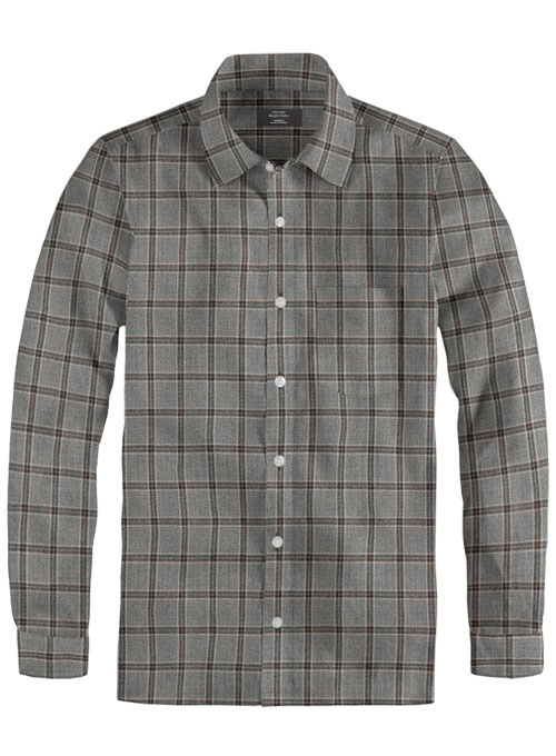 Lt Wt Southrail Gray Tweed Shirt - Full Sleeves - Click Image to Close