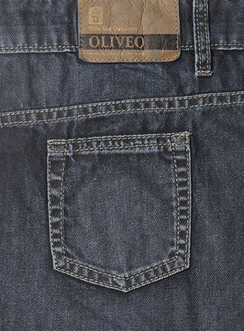 Melange Luxurious Deep Dark Blue Jeans - Vintage Wash