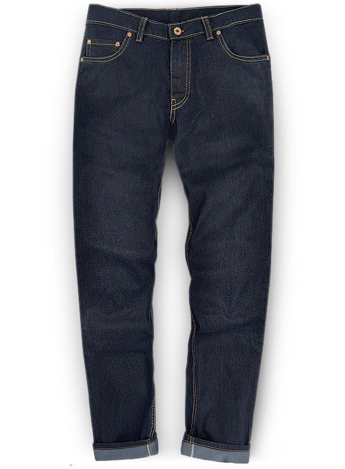 Melange Luxurious Deep Dark Blue Jeans - Denim-X
