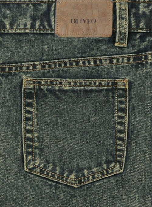 Mud Blue Denim Jeans - Blast Wash