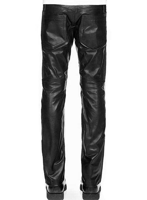Normandie Leather Biker Jeans