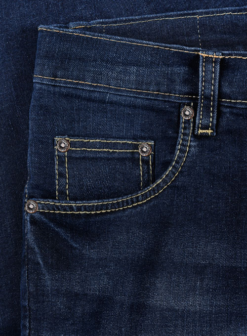 Pussy Cat Indigo Wash Whisker Stretch Jeans