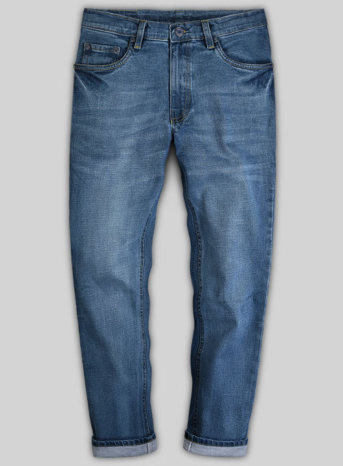 Pussy Cat Stone Wash Whisker Stretch Jeans