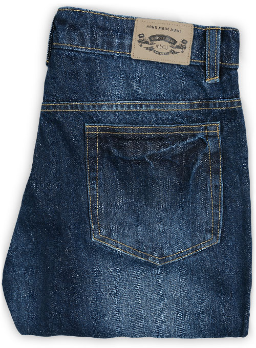 Ranch Blue Indigo Wash Whisker Jeans - Click Image to Close