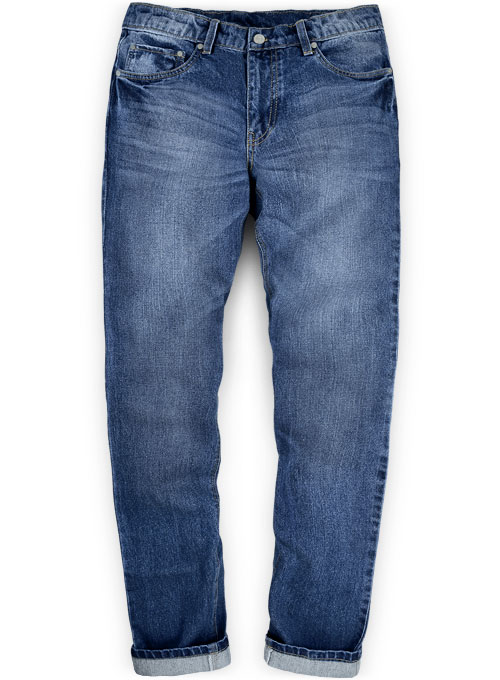 Ranch Blue Stone Wash Whisker Jeans