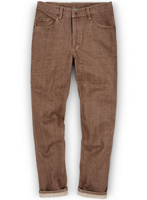 Rome Brown Jeans - Hard Wash