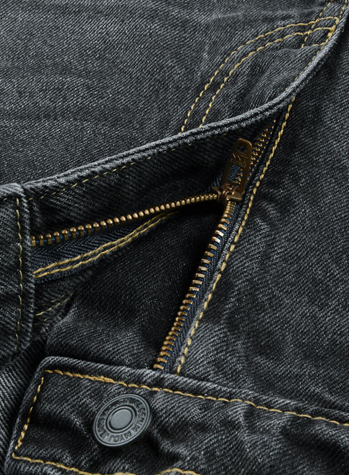 Rooster Black Indigo Wash Whisker Jeans - Click Image to Close