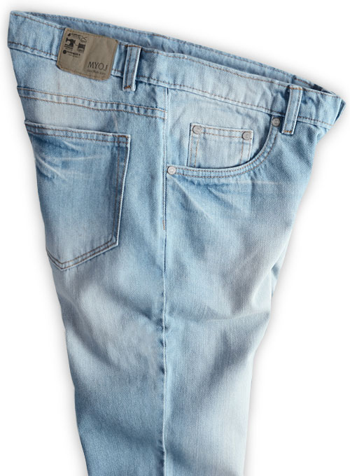 Rush Blue Stone Wash Whisker Jeans - Click Image to Close