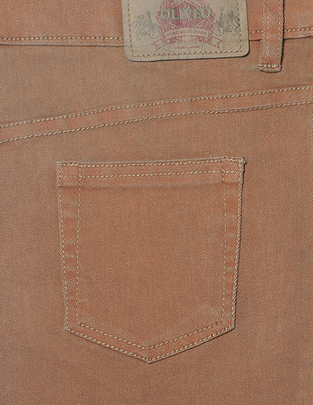 Rustic Orange Stretch Jeans
