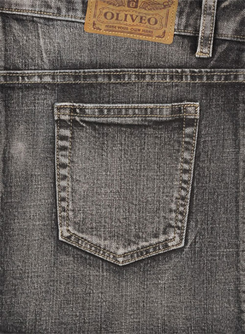 Stone Carbon Black Stretch Jeans - Vintage Wash