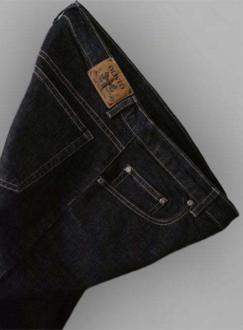 Stone Carbon Black Stretch Jeans - Hard Wash