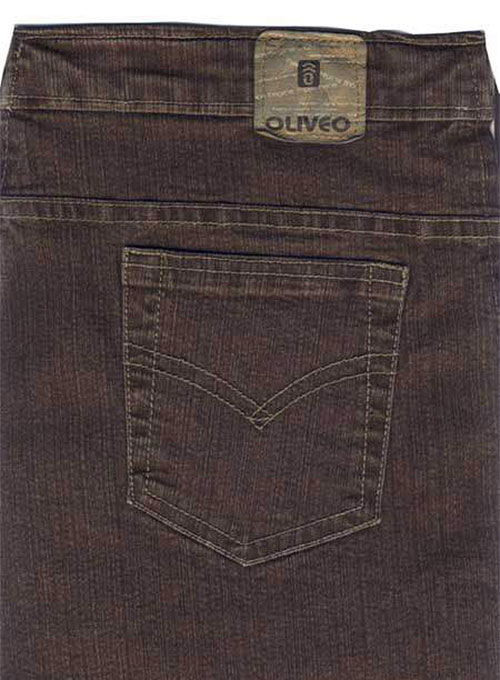 Killer Brown Stretch Denim Jeans - Denim-X Wash