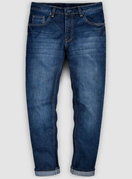 Skywalk Blue Indigo Wash Whisker Jeans