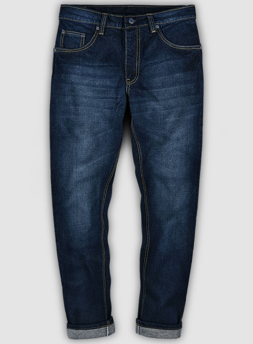 Skywalk Blue Hard Wash Whiskers Jeans