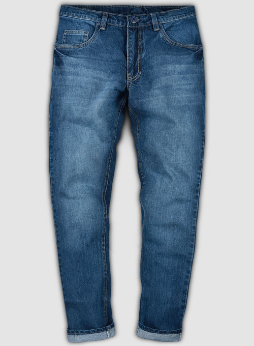 Skywalk Blue Stone Wash Whisker Jeans