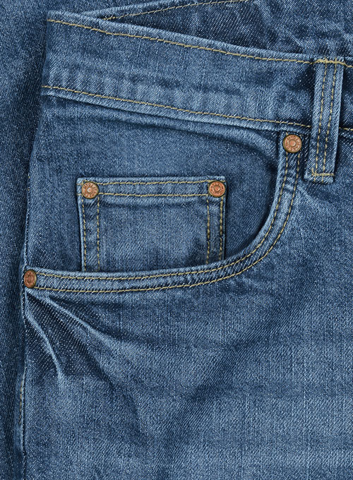 Slight Stretch Stone Wash Whisker Jeans