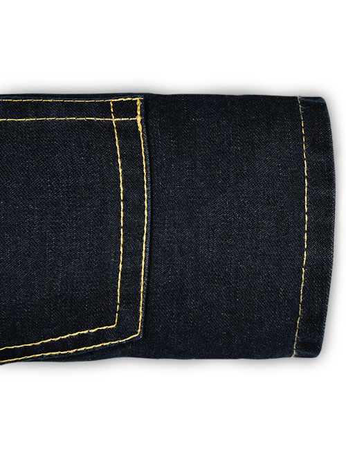 Storm Blue Hard Wash Jeans - Click Image to Close
