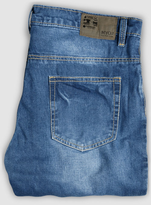 Storm Blue Stone Wash Whisker Jeans - Click Image to Close