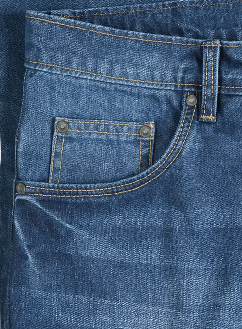 Storm Blue Stone Wash Whisker Jeans