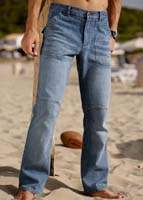 Knee Joint Cargo Denim Jeans