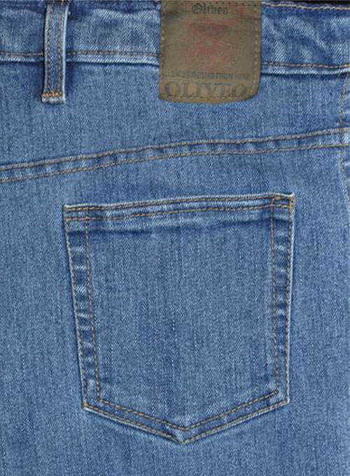 Super Stretch Classic Blue Jeans - Light Blue Wash