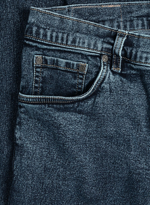Super Stretch Classic Blue Jeans - Blast Wash