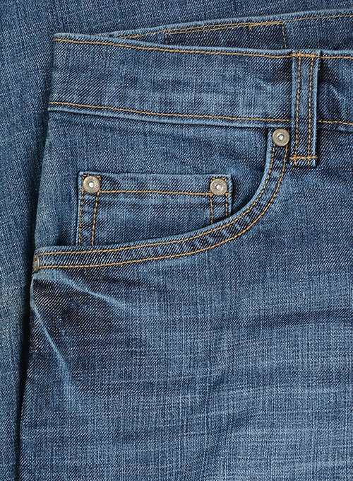Texas Blue Stretch Stone Wash Whisker Jeans