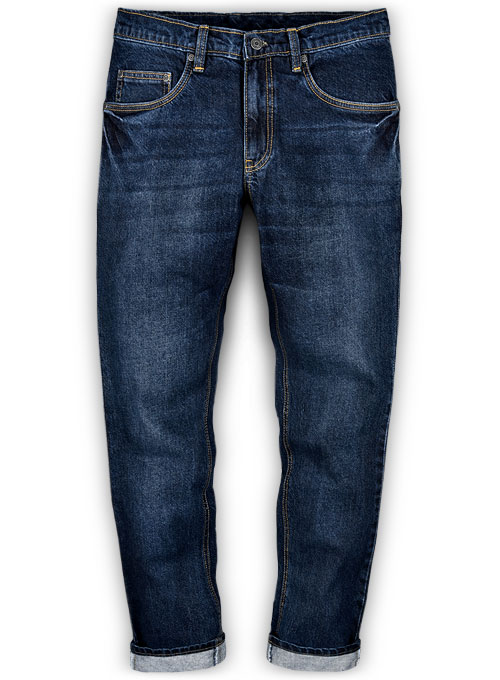 The Blue Indigo Wash Whisker Jeans