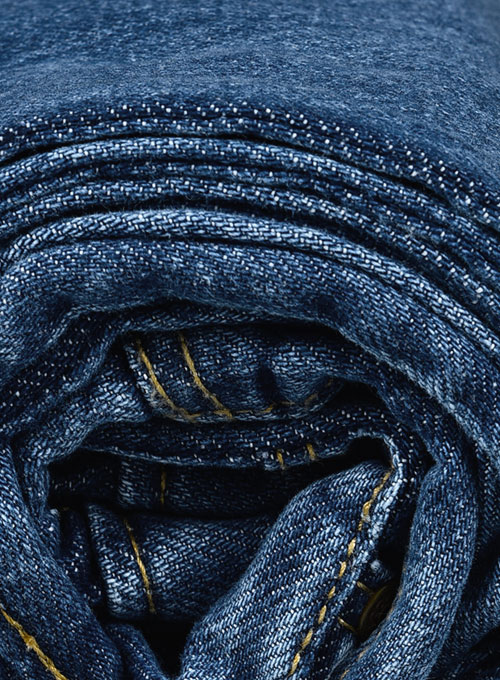 The Blue Stone Wash Whisker Jeans - Click Image to Close