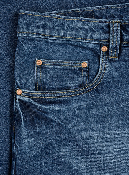 The Blue Stone Wash Whisker Jeans