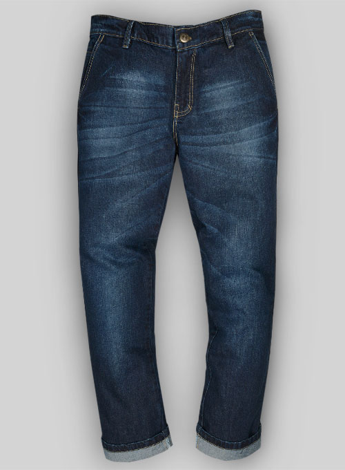 Thunder Blue Hard Wash Whisker Jeans - Look #501