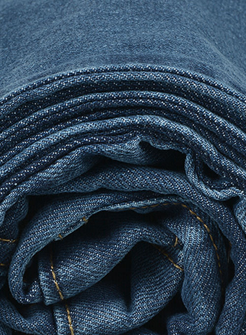 Thunder Blue Stone Wash Whisker Jeans - Click Image to Close