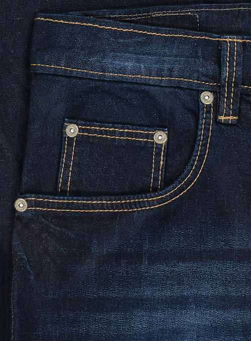 Titus Blue Hard Wash Whisker Stretch Jeans