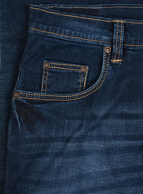 Titus Blue Indigo Wash Whisker Stretch Jeans