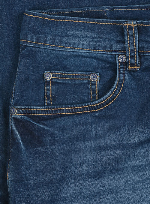 Titus Blue Stone Wash Whisker Stretch Jeans