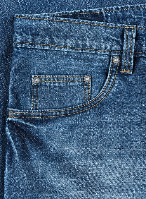 Travellers Blue Stone Wash Whisker Jeans