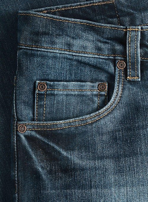 Varro Blue Indigo Wash Whisker Jeans - Click Image to Close