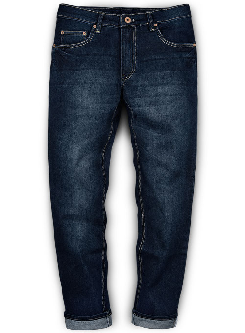 Victor Blue Hard Wash Whisker Stretch Jeans