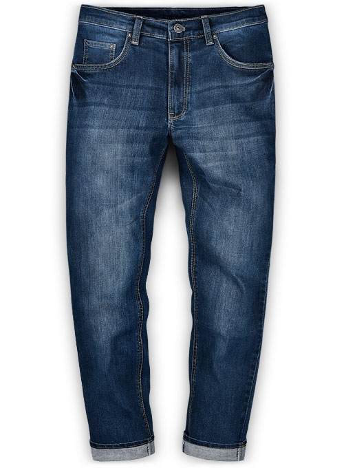 Victor Blue Indigo Wash Whisker Stretch Jeans