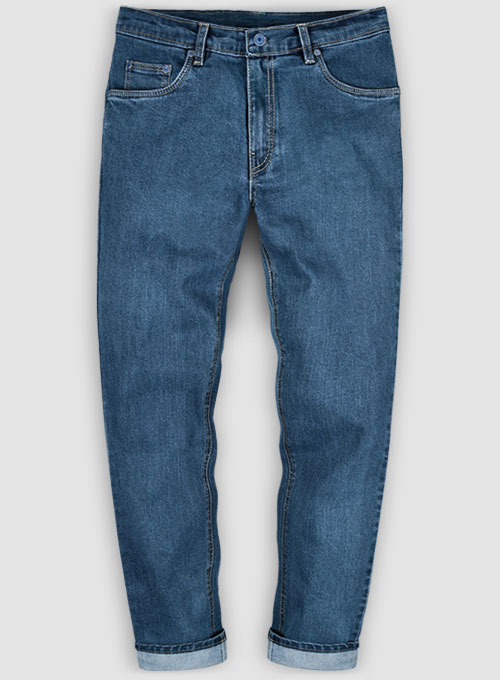 Victor Blue Stone Wash Stretch Jeans