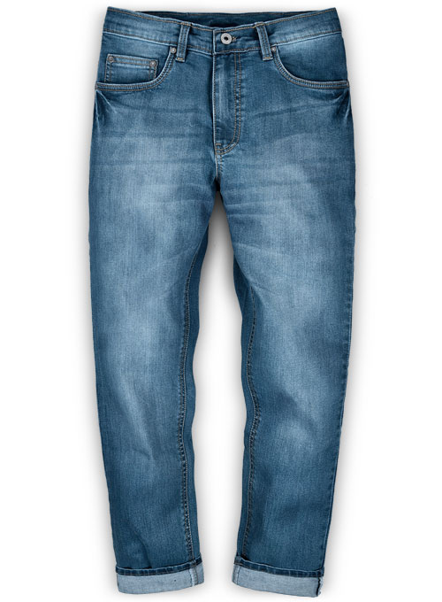Victor Blue Stone Wash Whisker Stretch Jeans