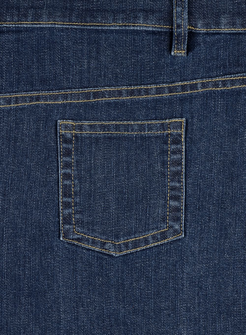 Wangle Blue Stone Wash Stretch Jeans