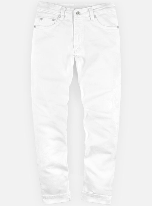 White Jeans Makeyourownjeans 174 Made To Measure Custom